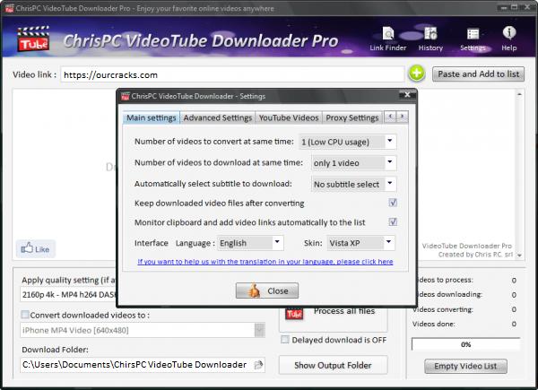 ChrisPC VideoTube Downloader Pro Keygen Latest Free Download