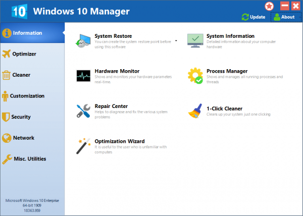 Yamicsoft Windows 10 Manager Full Serial Key & Patch Tested Free Download